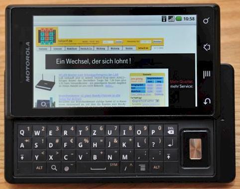 Motorola milestone im test und in bildern foto teltarif de