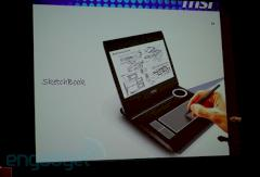 MSI Sketchbook Convertible Tablet Netbook Computex