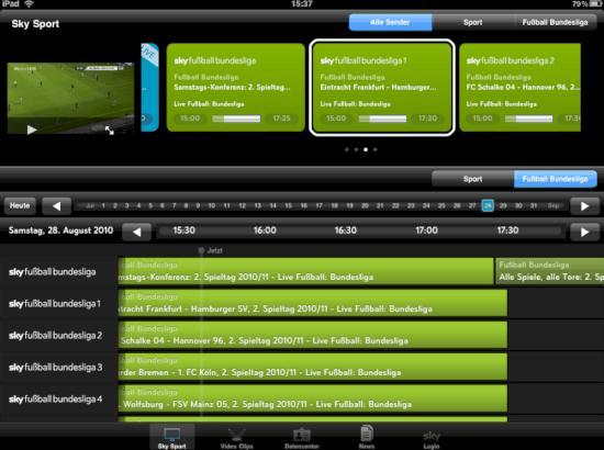 fussball livestream ipad
