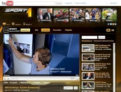 Screenshot des Sport1-YouTube-Channels