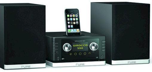 neues micro hifi system sirocco 550 von pure mit wlan. Black Bedroom Furniture Sets. Home Design Ideas