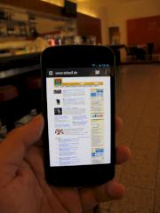 Der Webbrowser des Galaxy Nexus