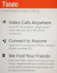 tango app bringt videotelefonie auf das windows phone. Black Bedroom Furniture Sets. Home Design Ideas