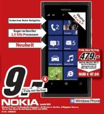 Schnäppchen check nokia lumia 800 bei media markt für 9 euro