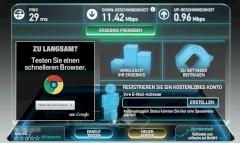 Schicke Optik beim Speedtest