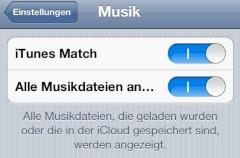iTunes Match am iPhone aktivieren