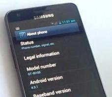 Samsung Galaxy S2 mit Android 4.0.1