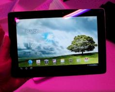 Asus Transformer Pad 300: Homescreen
