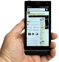 Scharfes und helles Display am Sony Xperia S