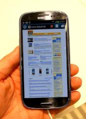 Browser des Samsung Galaxy S3