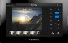 Video-Editor von Blackberry 10