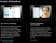 Blackberry Playbook kommt mit LTE