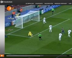 Screenshot ZDF Mediathek Olympia 2012 Fussball Herren