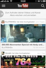 YouTube-App f�r das iPhone