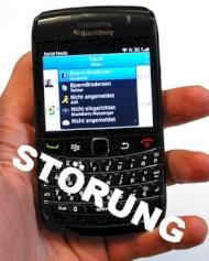 Blackberry: St�rungen f�r Vodafone-Kunden durch Server-Ausfall
