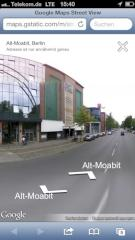 Google Street View auf dem iPhone 5
