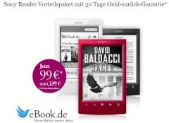 Start von eBook.de: Sony PRS-T2 mit 6 Gratis-E-Books f�r 99 Euro