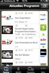 Vodafone MobileTV am Apple iPhone