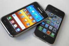 Apple iPhone und Samsung Galaxy S2