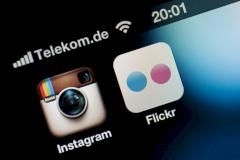 Symbol Instagram und Flickr