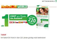 NettoKOM World: Tarif f�r Auslandsgespr�che mit AllNet-Option