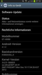 Jelly-Bean-Update f�r Samsung Galaxy S3
