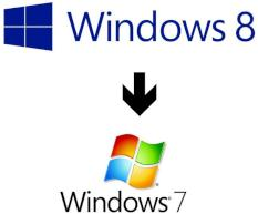 Manche Windows-8-Versionen k�nnen auf Windows 7 oder Vista herabgestuft (Downgrade) werden.