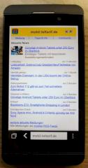 Mobile teltarif.de-Seite im Blackberry-Z10-Browser