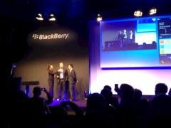 Der einstige Tennis-Star Boris Becker beim Lauch-Event von Blackberry 10 in K�ln.