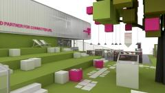 Messestand der Telekom Innovation Laboratories auf dem MWC