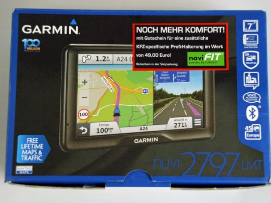 garmin n vi 2797lmt im test gro es navi mit vielen. Black Bedroom Furniture Sets. Home Design Ideas