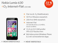 Nokia Lumia 630 mit o2-Tarif bei Blue Deals
