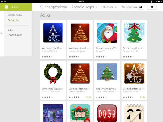 weihnachts apps f r android und ios news. Black Bedroom Furniture Sets. Home Design Ideas