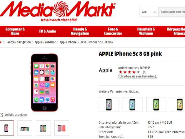 iphone bei media markt ohne vertrag f r unter 300 euro news. Black Bedroom Furniture Sets. Home Design Ideas