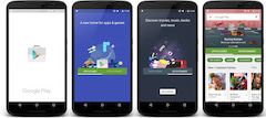 Splashscreens des Google Play Store