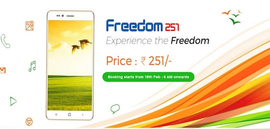 Freedom 251: 3-Euro-Smartphone in Indien