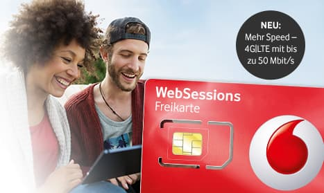 vodafone websessions prepaid internet jetzt mit lte zugang news. Black Bedroom Furniture Sets. Home Design Ideas