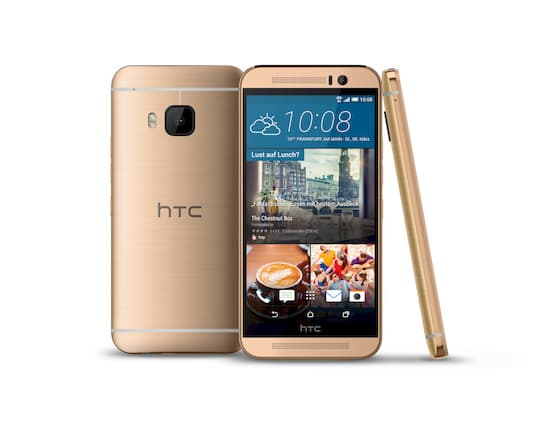 HTC One M9 Prime Camera Edition in Gold on Gold