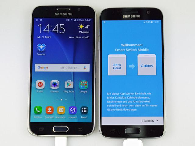 Samsung galaxy s7 amp edge daten per smart switch usb connector