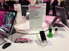 WiFi-Calling-Demonstration am Telekom-Messestand