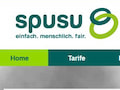 Screenshot der spusu-Webseite in �sterreich