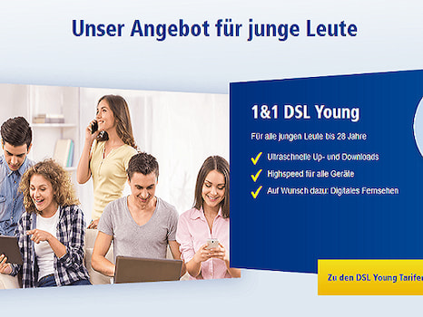 dsl angebot f r junge leute bei 1 1 news. Black Bedroom Furniture Sets. Home Design Ideas
