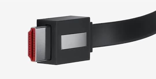 Das am eigentlichen Chromecast Ultra angebrachte HDMI-Kabel