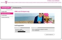 Telekom-Entsperrungs-Website