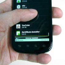 Das Gingerbread-Handy Google Nexus S im Test
