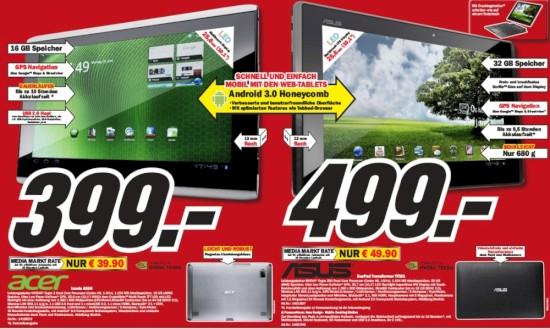 media markt bringt tablet angebote von acer und asus. Black Bedroom Furniture Sets. Home Design Ideas
