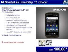medion life android smartphone f r 199 euro bei aldi news. Black Bedroom Furniture Sets. Home Design Ideas