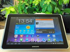 Home-Screen des Samsung Galaxy Tab 10.1N