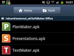 SoftMaker Office Mobile: Drei .apk-Dateien zur Installation