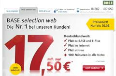 Aktionstarife Base selection web und all in web im September